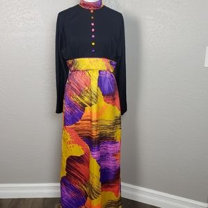 Vintage Tori Richard Honolulu Maxi Dress Size 14